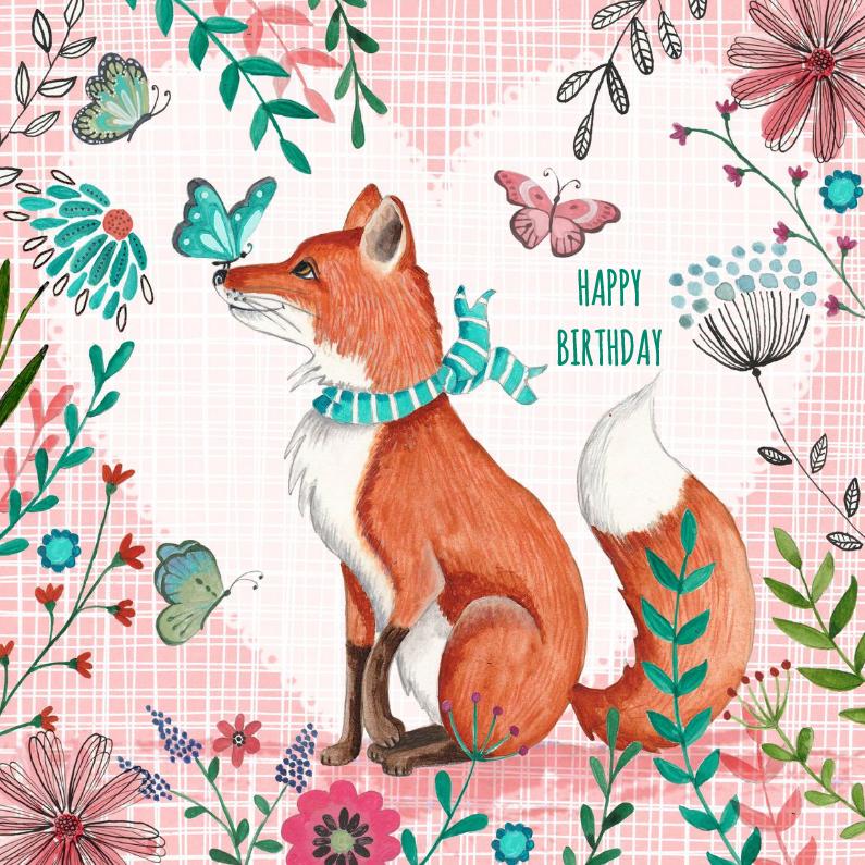 Поздравление, открытка лисички
