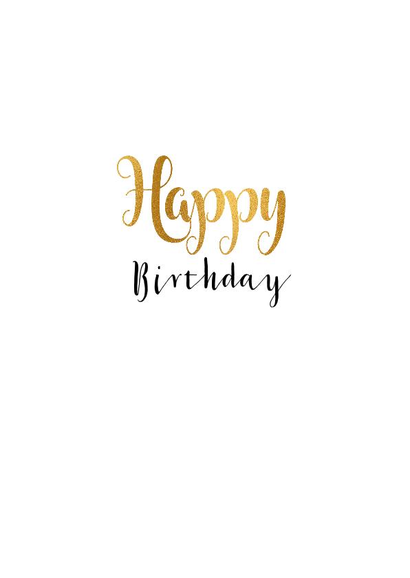 Felicitatie verjaardagskaart 40 goud 3
