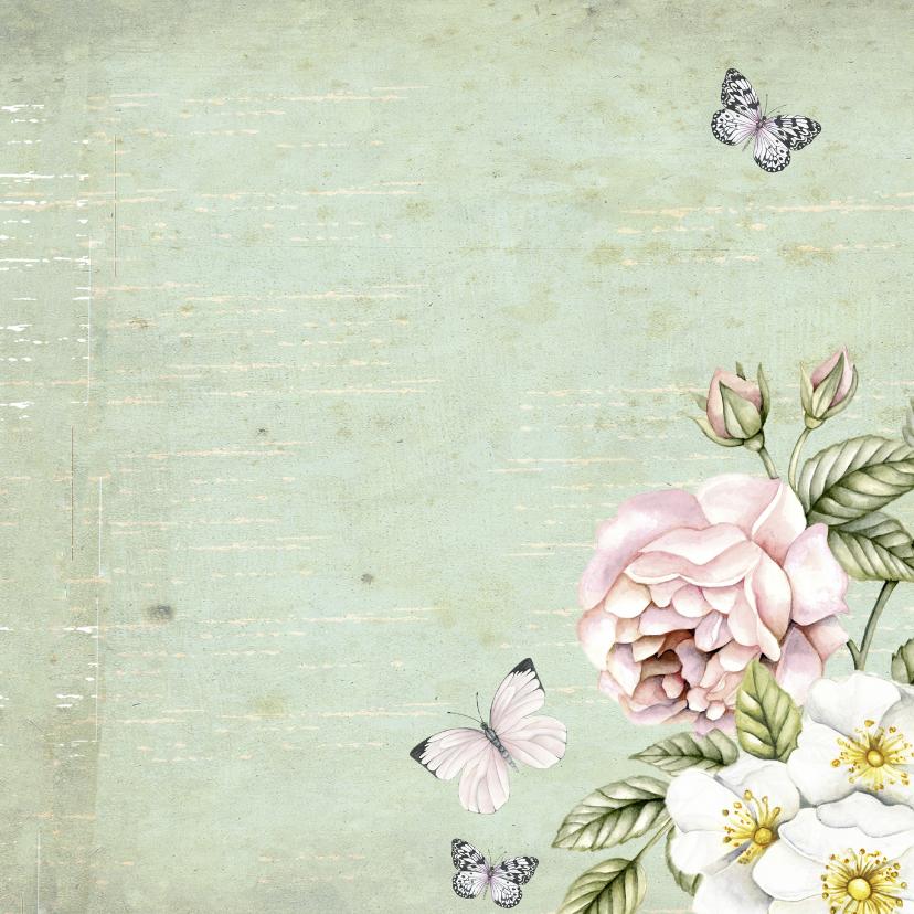 felicitatie voor Sarah vintage rozen 3