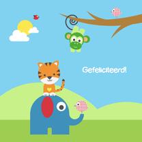 Felicitatiekaarten - Felicitatie - Vrolijke dieren