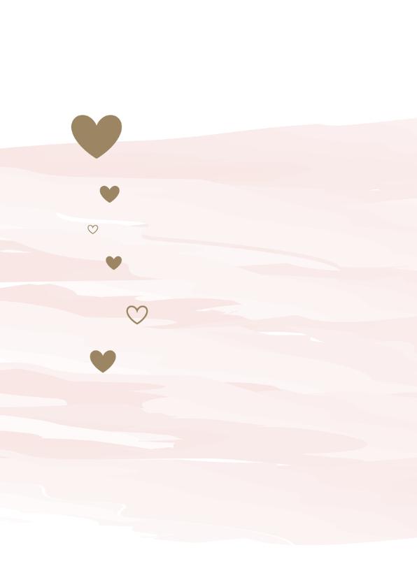 Felicitatie watercolour met hartjes 2