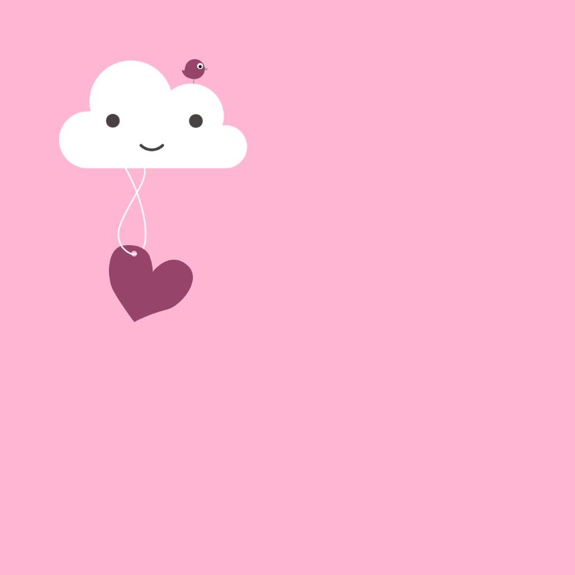 Felicitatie - Wolk, meisje, hart 2