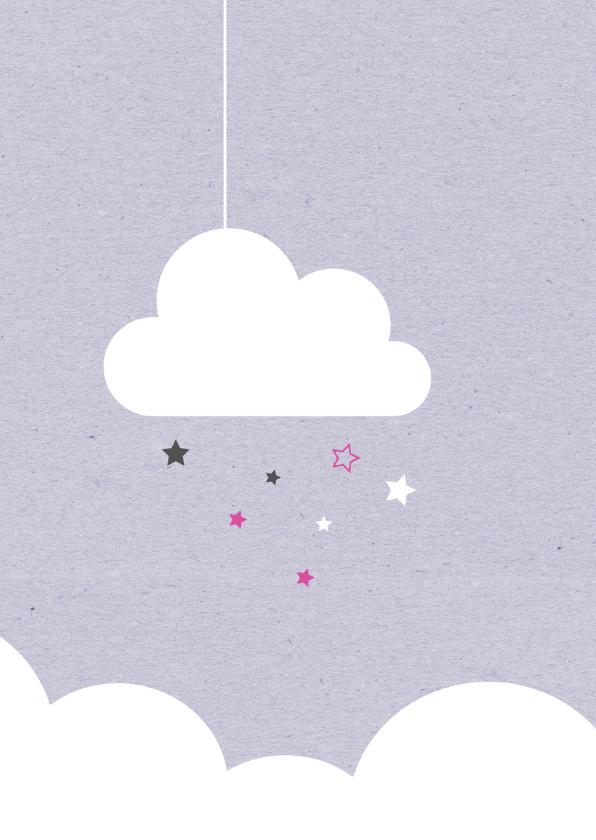 Felicitatie-Wolken, sterren,maan 2
