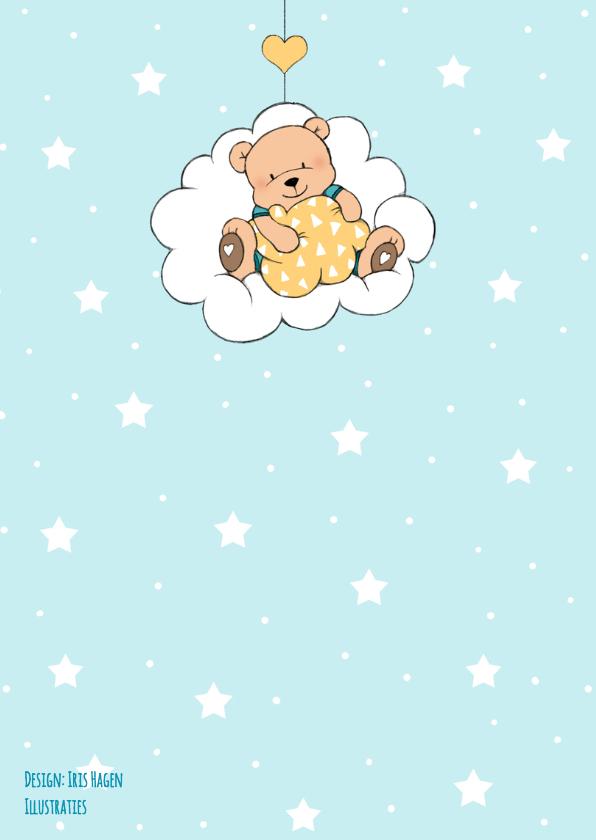 Felicitatie zoon beer in wolk IH 2