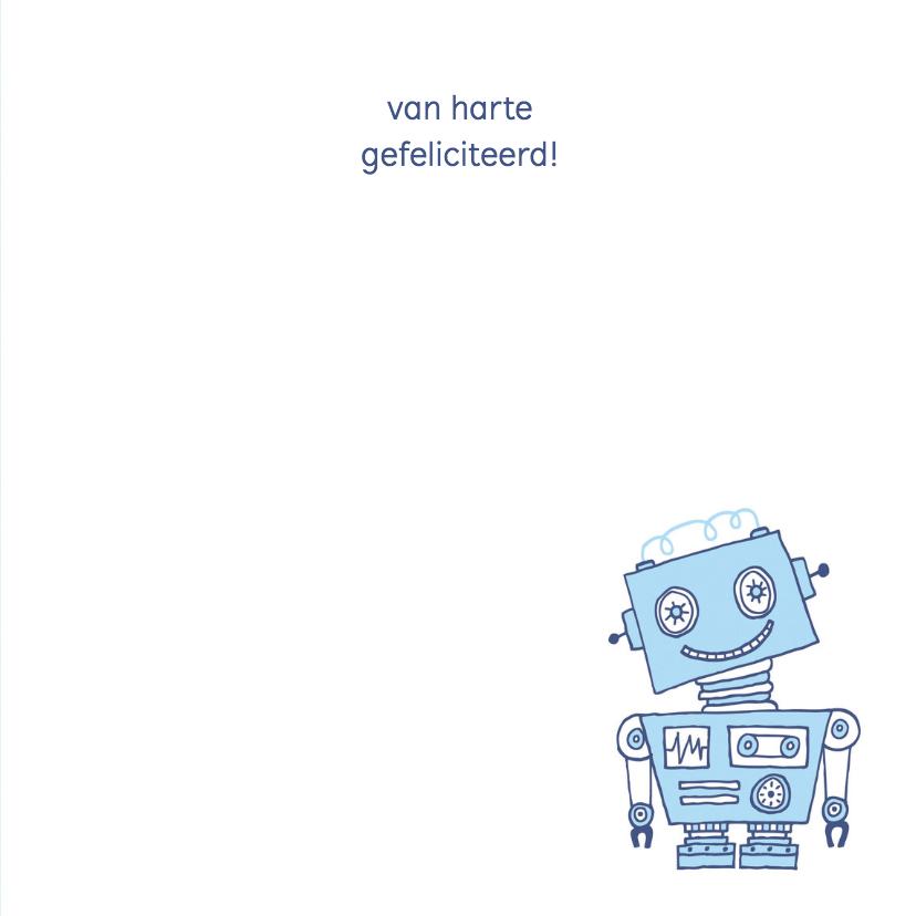 Felicitatie zoon silhouet robot blauw 1 - MW 3