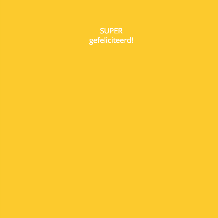 Felicitatie zwanger silhouet geel - MW 3