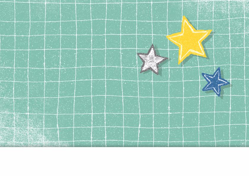 felicitatiekaart geboorte jongen sterren 2