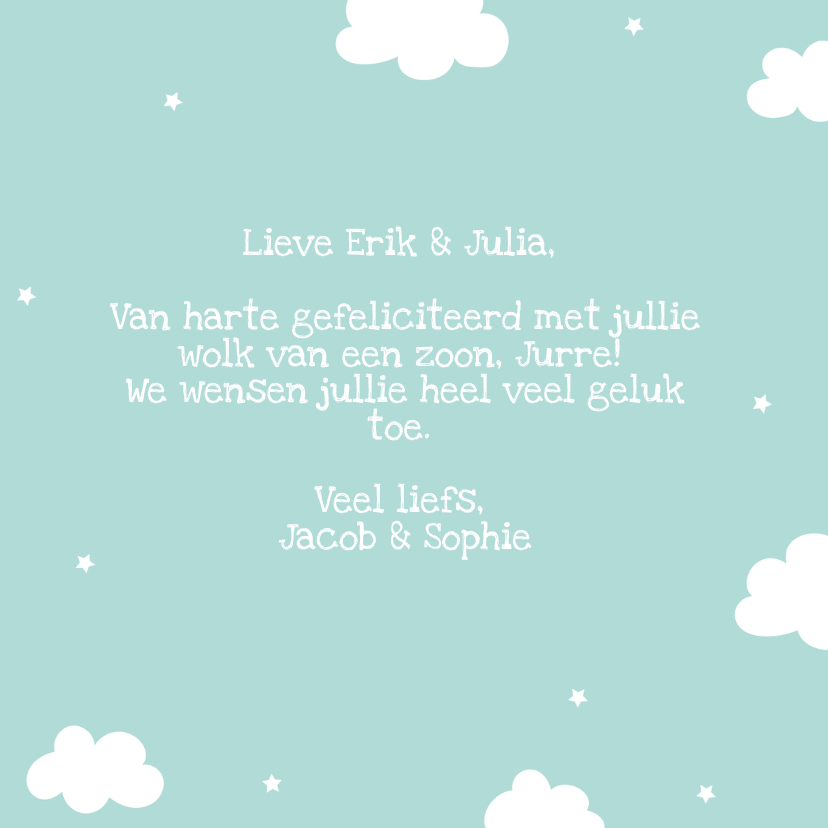 Felicitatiekaart geboorte Jongetje Dream Big Little One 3
