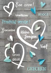 Felicitatiekaarten - felicitatiekaart hart hout