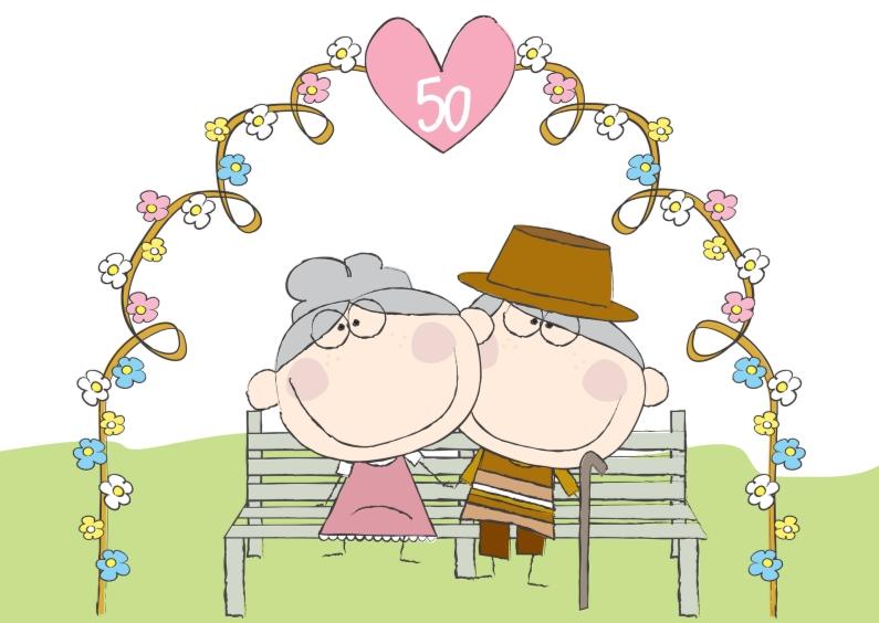 50 jaar huwelijk Felicitatiekaart jubileum 50 jaar getrouwd | Kaartje2go 50 jaar huwelijk