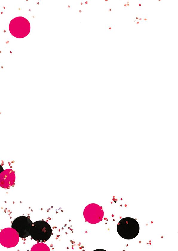 Felicitatiekaart meisje confetti label 2