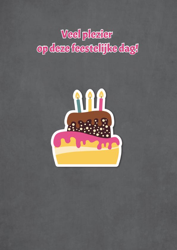 Felicitatiekaart met grote taart - DD 2