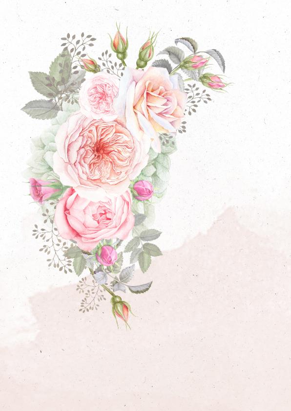 Felicitatiekaart romantisch boeket 2