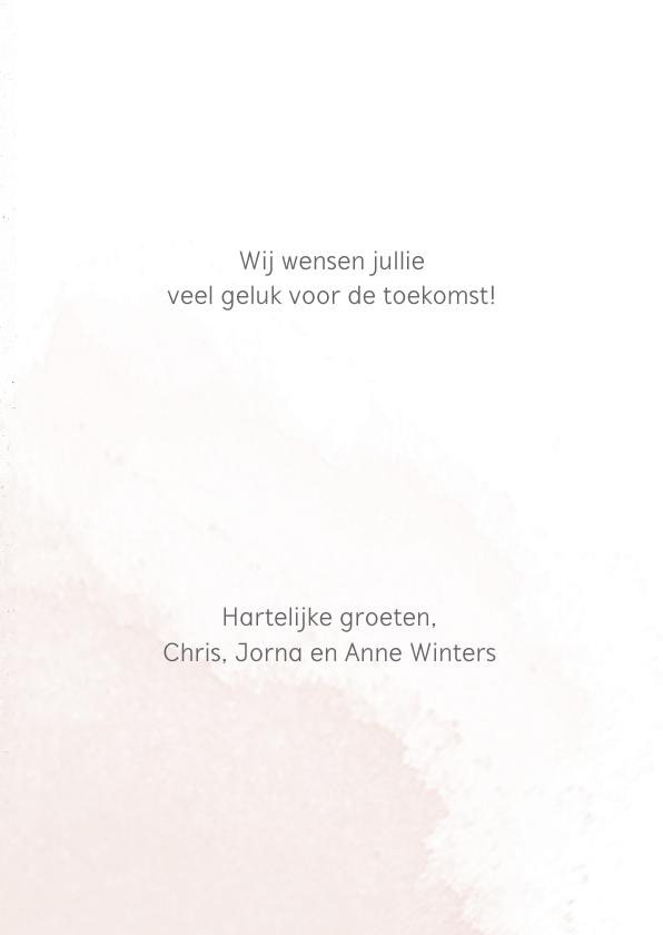 Felicitatiekaart romantisch boeket 3