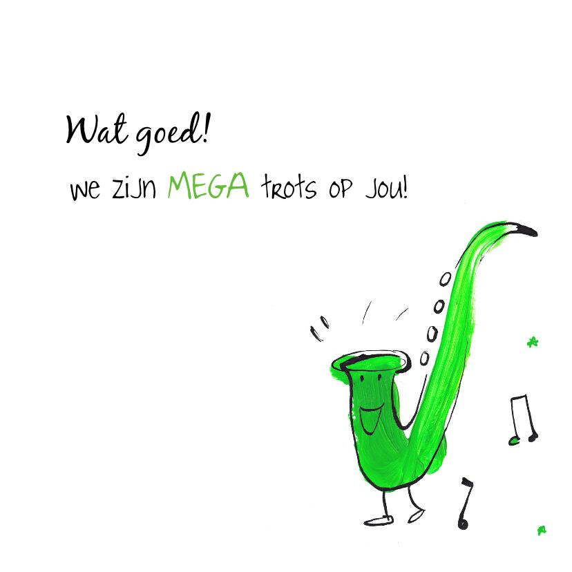 Felicitatiekaart Saxofoon  3