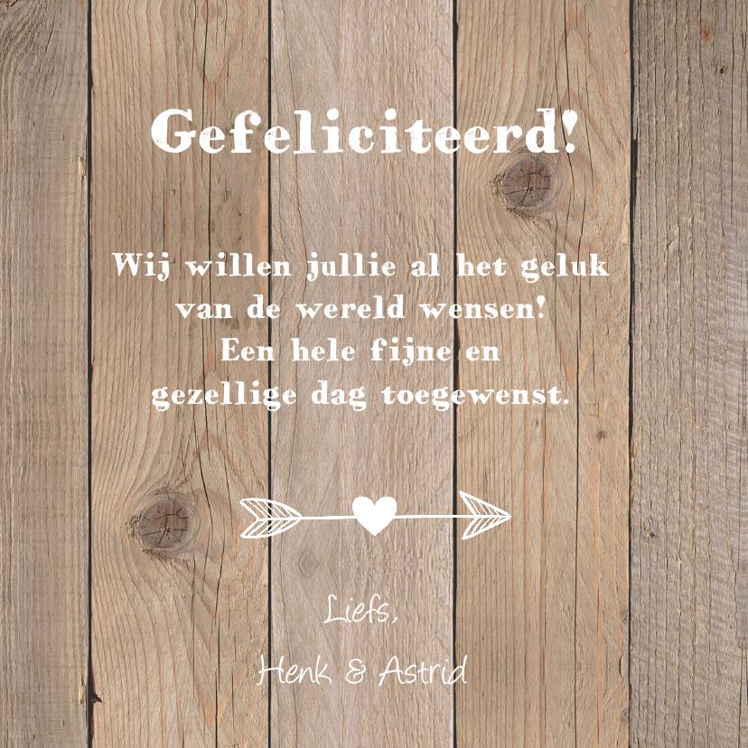 Felicitatiekaart trouwdag hartje krijtbord houtprint 3