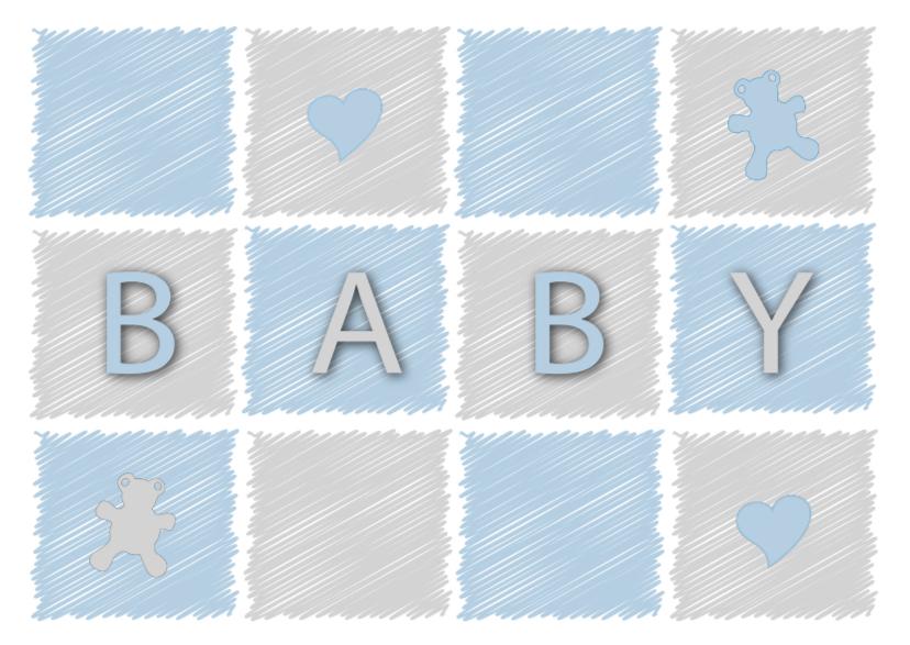 Felicitatiekaart voor een baby jongen felicitatiekaarten kaartje2go - Ruimte jongensbaby ...