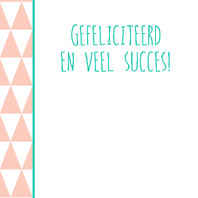 Felicitatiekaartje Nieuwe Baan 3