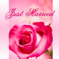 Felicitatiekart huwelijk Just Married