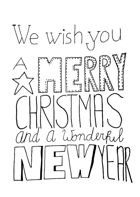 Fijne Kerst Hand Lettering Dh Kerstkaarten Kaartje2go