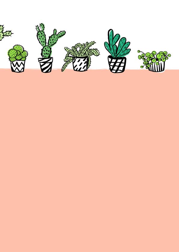 Fleurig kaartje cactus plantjes 3