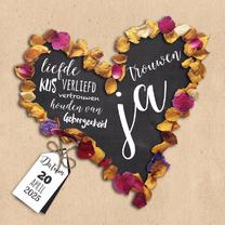 Trouwkaarten - Flower power hart-isf