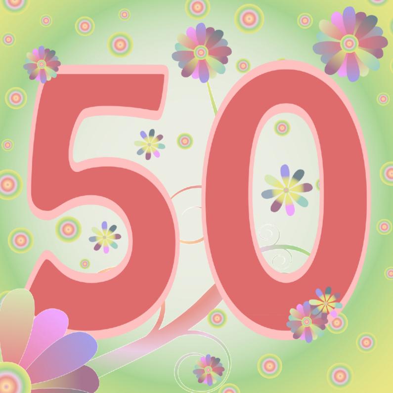 wallpaper 50 jaar flowerpower 50jaar   Verjaardagskaarten | Kaartje2go wallpaper 50 jaar