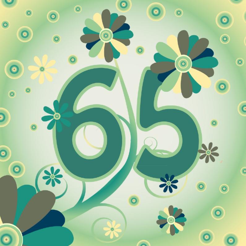 verjaardagskaart 65 jaar flowerpower2 65 jaar   Verjaardagskaarten | Kaartje2go verjaardagskaart 65 jaar