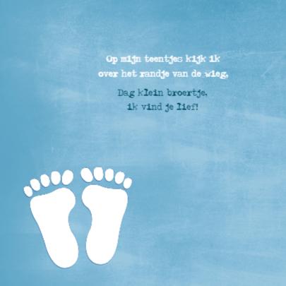 Footprints op hout jongen 2