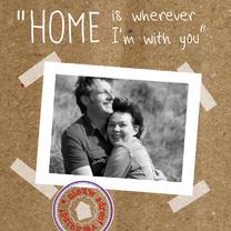 Samenwonen kaarten - Foto karton en romantische regel