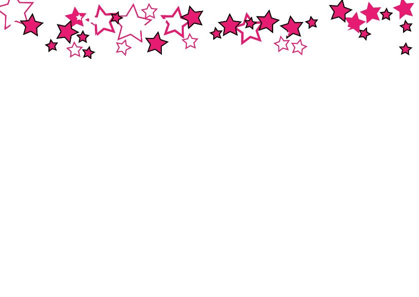 FOTO kerstkaart roze witte sterren 2