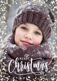 Foto kerstkaart sterretjes dots