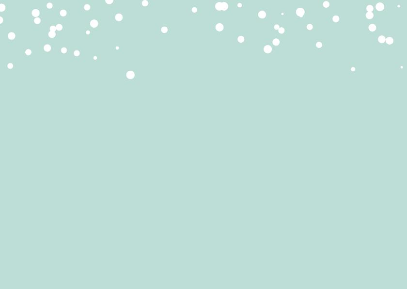 Fotocollage met sneeuw stippen 2