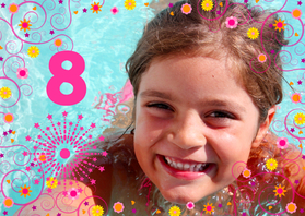 Kinderfeestjes - Fotokaart Prinses Meisje