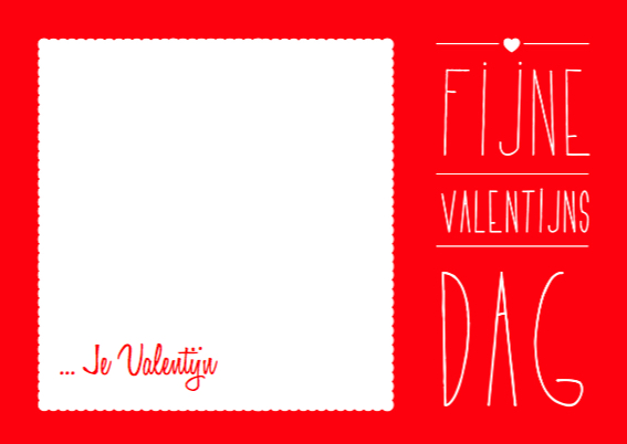 Fotokaart Valentijn met vlak 3