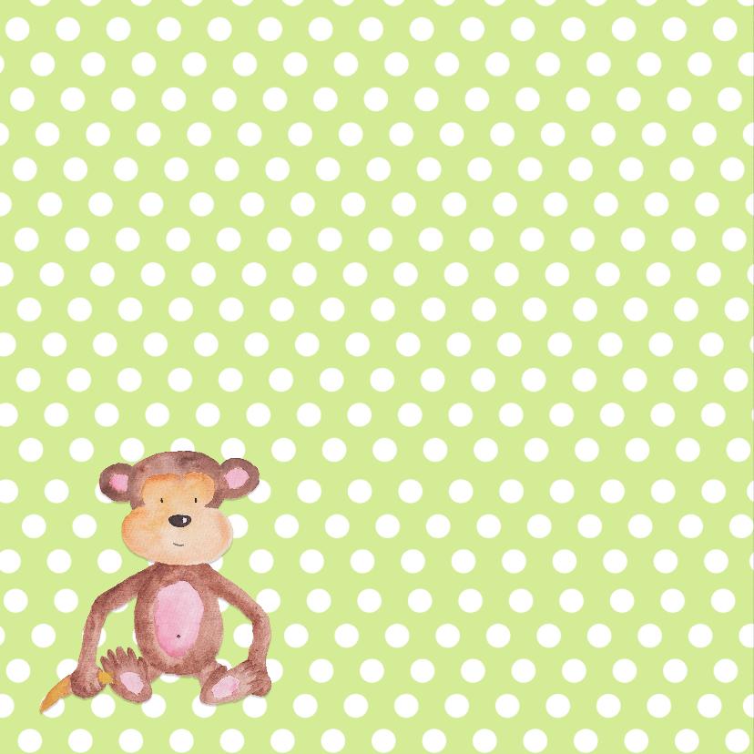 Geboorte aapje stippen lime - DH 2