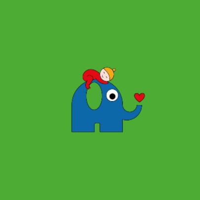 Geboorte - baby op olifant 2