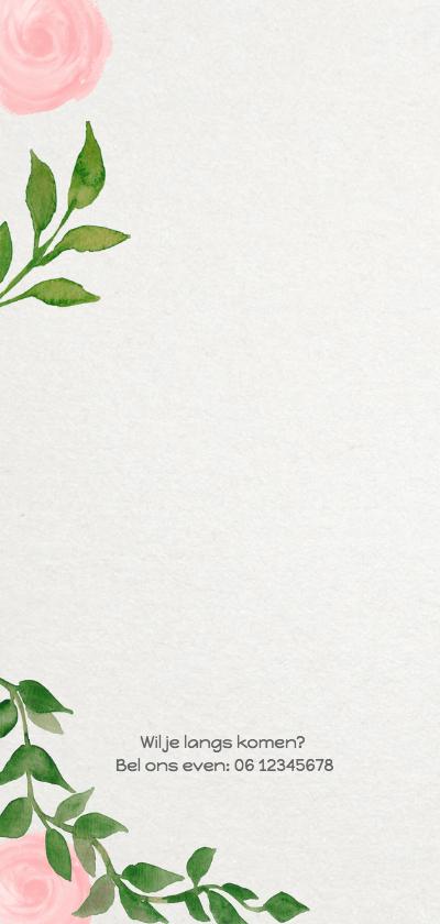 Geboorte bladeren meisje langwerpig - DH 2