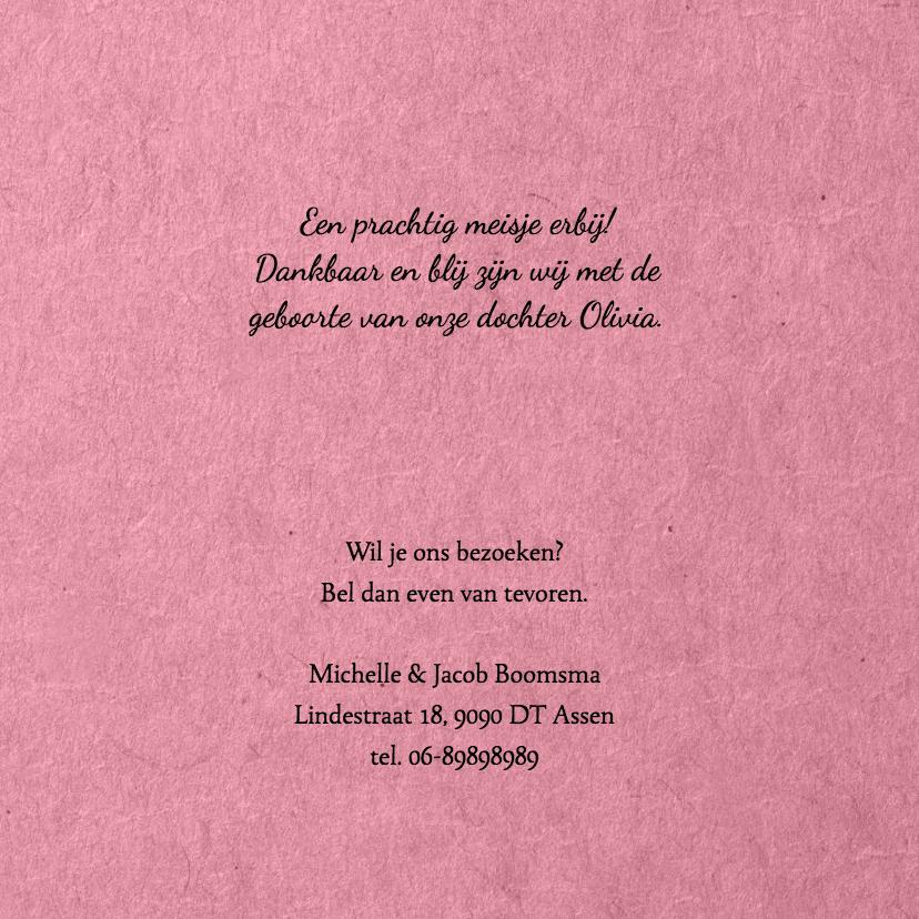 Geboorte bloemenkrans roze 3