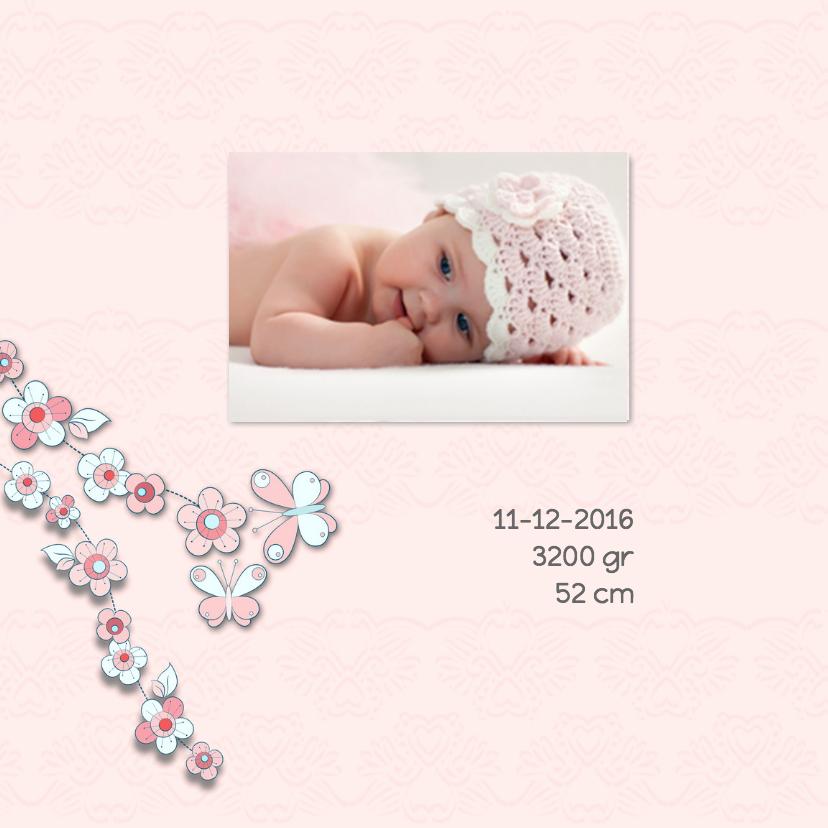 Geboorte bloemenmeisje-vlinder 2