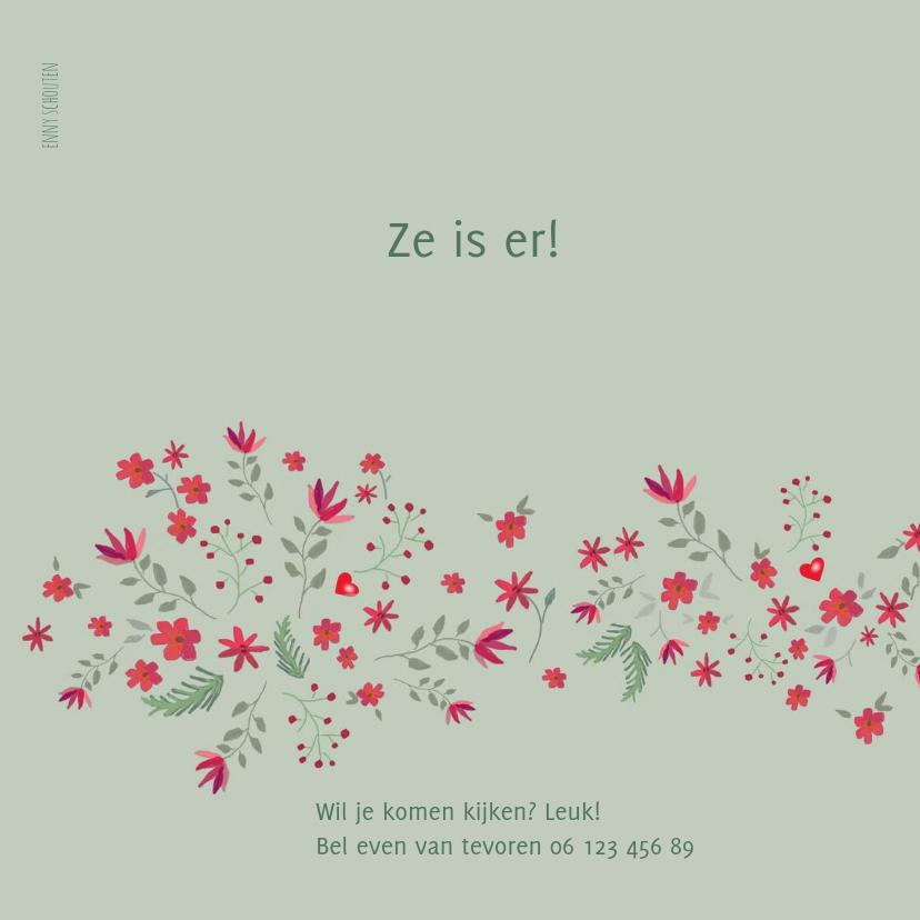Geboorte - bloemetjes voor meisje 2