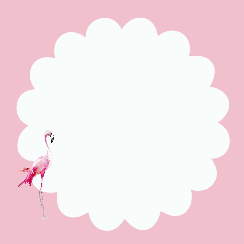 geboorte dochter flamingo roze 3