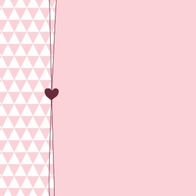 Geboorte  Driehoekjes roze, hart 2