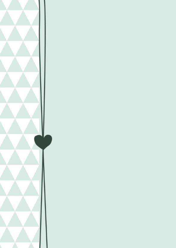 Geboorte Foto groene driehoek 2