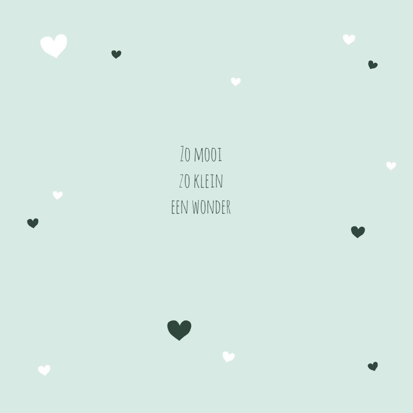 Geboorte - Foto, harten, groen 2