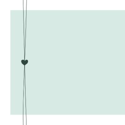 Geboorte - groen met hartjes 2