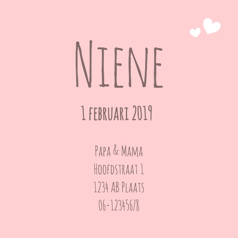 Geboorte - Harten, lijnen, roze 3