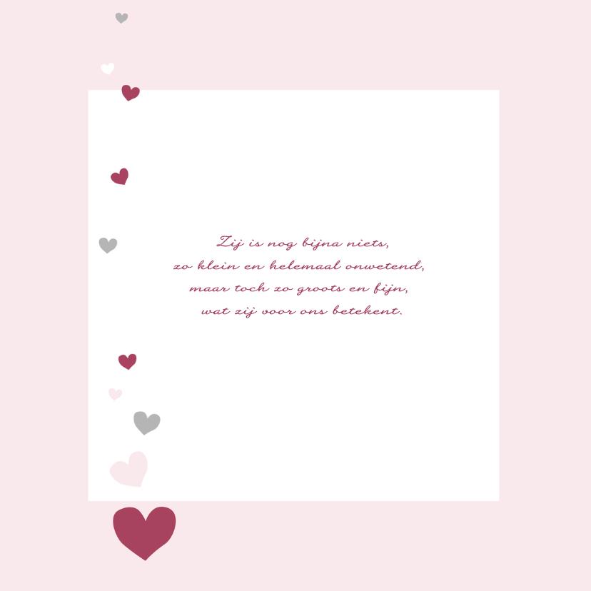 Geboorte - Hartjes meisje roze 2