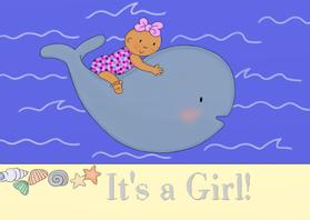 Geboortekaartjes - Geboorte Its a Girl Walvis - TbJ
