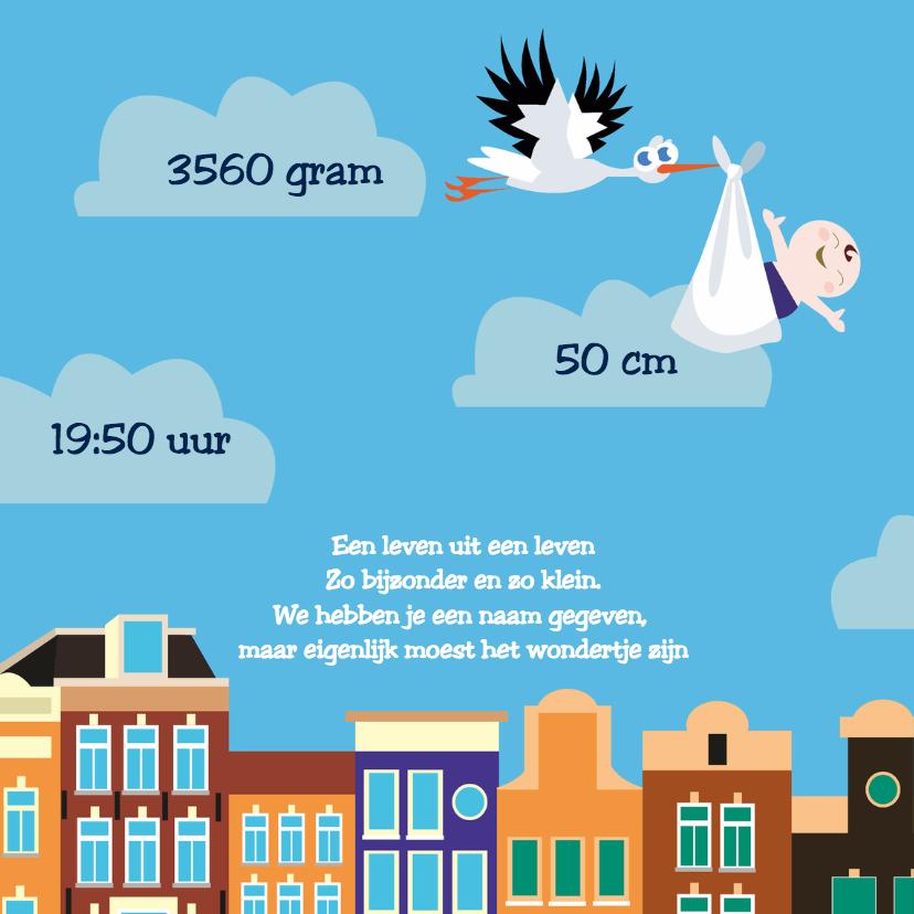 Geboorte jongen Amsterdam gracht 2